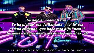 Soltera Remix Letra  Lunay Ft. Daddy Yankee Bad Bunny