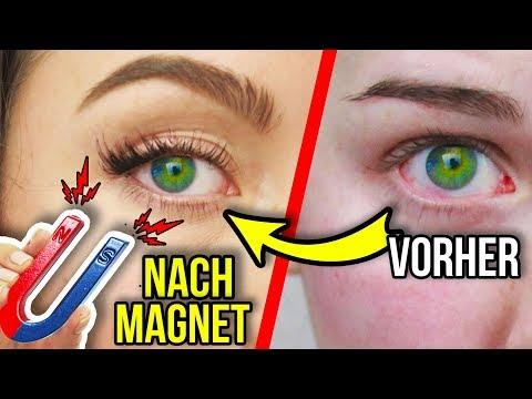 LÄNGERE WIMPERN MIT MAGNET KRIEGEN!! 😱 FÜR 1€ in 2 MINUTEN - LIVE TEST!