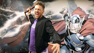 SF Giants Hunter Pence visits Marvel!