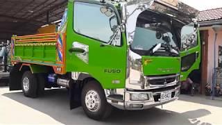 รีวิว สุดจัดปลัดบอก FUSO 6M61 สีเขียวใบตองอ่อน อู่หลานกำนันสุด dump truck EP.4221