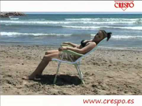 Crespo : Silla de playa plegable  AL 206   Foldable beach chair
