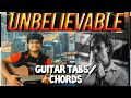 Unbelievable song[Tiger shroff]easy guitar chords|Tiger shroff-Unbelievable guitar tabs/lesson/cover
