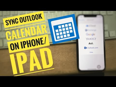 How to Sync Outlook Calendar With iPhone 12 pro max, 11, XS Max, XR, iPhone X,8,7,6,6 Plus, SE