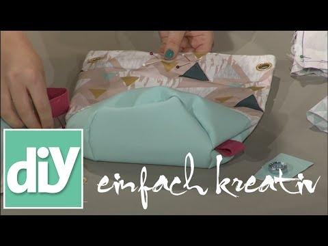 Seesack mit Kunstlederboden nähen  | DIY einfach kreativ