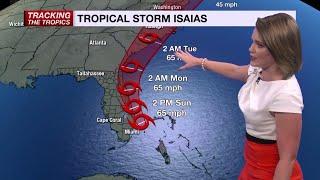 Tracking Isaias: Aug. 2