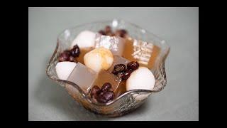 Japanese Dessert   Anmitsu With Hojicha And Kamairicha Kanten