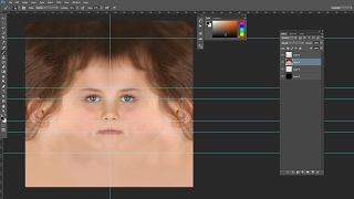 Creating Face Texture Using Real Images In Photoshop Part 1