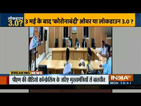PM Modi Holds Review Meet With CMs Over Lockdown Extension