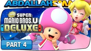 New Super Mario Bros U Deluxe - Frosted Glacier 100% Walkthrough Part 4 (Nintendo Switch)