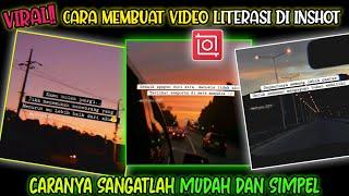 VIRAL!! Cara Membuat Video Quotes Literasi Di Inshot | Sangatlah  Mudah