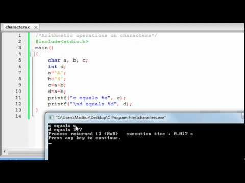 C Programming Tutorial – 9: Characters