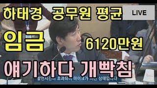 [꿀잼]하태경 의원 공무원 임금 밝혀라 !총공무원 연봉 6120만원에 빡쳐버림~