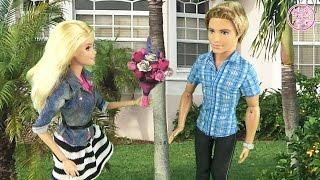 Мультфильм Барби. Подарок Кена машина Кабриолет! Куклы ♥ Barbie Ken Doll Toys Glam convertible car