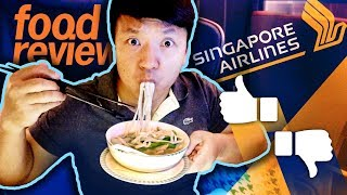 Singapore Airlines BUSINESS CLASS Food Review! San Francisco to Singapore 17 HOUR Flight