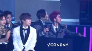 "20161226 Gayo Dajeon SEVENTEEN Reaction to BIGBANG ""Last Dance"""