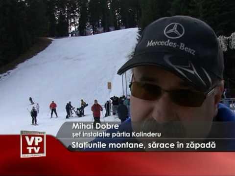 Staţiunile montane, sărace în zăpadă