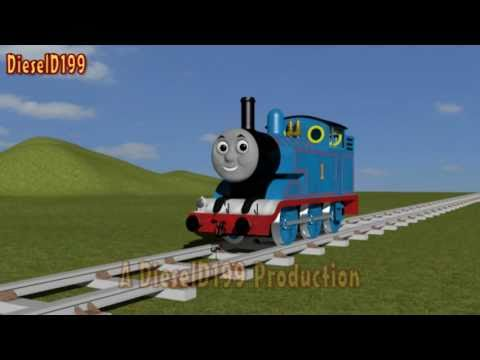 3D Thomas The Tank Engine Model Test 3