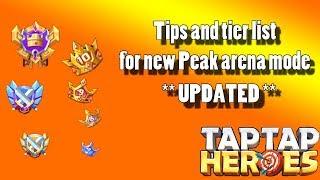 Taptap Heroes - Peaks mode tier list UPDATED! (as of 2019-10-08)