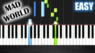 Mad World - Gary Jules - EASY Piano Tutorial by PlutaX