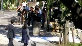 名取裕子「葬儀屋松子の事件簿」不忍池弁天堂ロケ