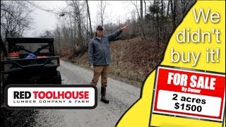 Ep84: Why we didn't buy 2 acres for $1500 adjacent to our homestead