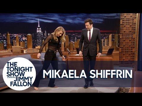 History-Making Ski Racer Mikaela Shiffrin Teaches Jimmy to Shuffle Dance