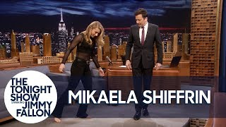 History-Making Ski Racer Mikaela Shiffrin Teaches Jimmy to Shuffle Dance thumbnail