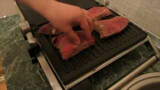 Смотреть онлайн Жарим мясо с картофелем на гриле дома