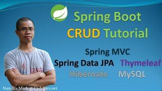 Spring Boot CRUD Tutorial with Spring MVC, Spring Data JPA, ThymeLeaf, Hibernate, MySQL
