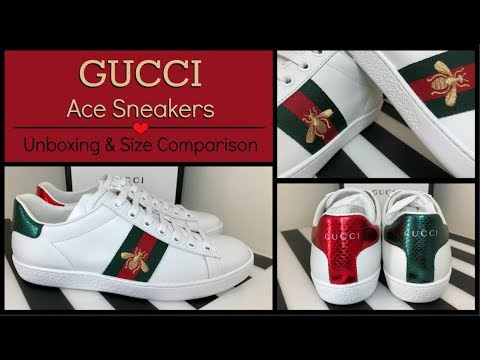 Gucci 2018 Ace Embroidered Bee Sneakers | Unboxing & Review | Size Comparison