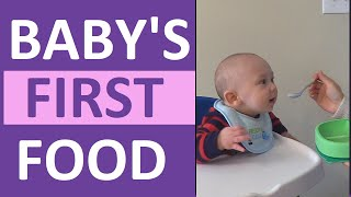 Baby's First Food Reaction at 6 Months Old | How to Start Solids | Pediatric Nursing
