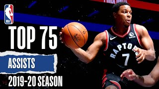 Ahead of the NBA Restart beginning July 30th, relive the TOP 75 assists from the 2019-20 NBA season so far! Drop which assist was your favorite in the comments!   Subscribe to the NBA: https://on.nba.com/2JX5gSN  Full Game Highlights Playlist: https://on.nba.com/2rjGMge  For news, stories, highlights and more, go to our official website at https://nba_webonly.app.link/nbasite  Get NBA LEAGUE PASS: https://nba.app.link/nbaleaguepass5