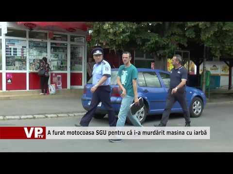 A furat motocoasa SGU pentru că i-a murdărit Audi cu iarbă