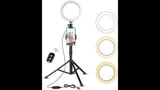 """bower 8"""" selfie ring light studio  review"""