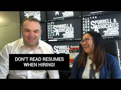 Don't Read Resumes When Hiring