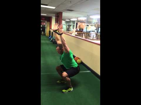 Overhead Squat with Tumbling Loop