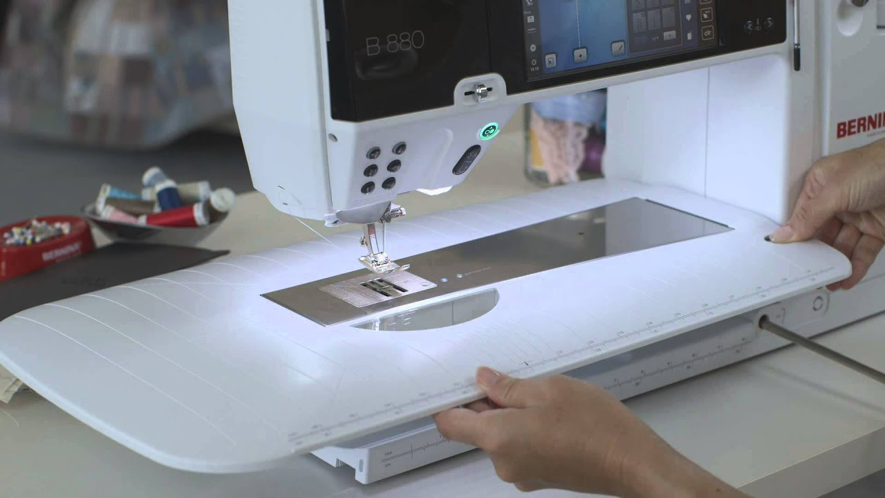 BERNINA 880 PLUS how to thread and get prepared for sewing