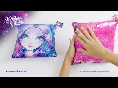 Youtube Video for Magic Sequin Cushion - Reversible