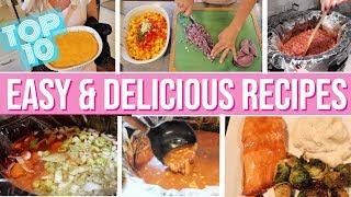EASY FAMILY DINNER IDEAS + TOP RECIPES // CROCKPOT MEALS // GLUTEN FREE 2019