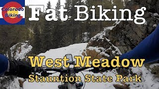 Fat biking West Meadow Trail clockwise