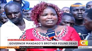 Governor Mandago's Brother Found Dead In Eldoret