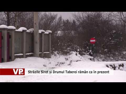 Străzile Siret și Drumul Taberei rămân ca în prezent