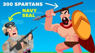 1 NAVY SEAL vs the SPARTAN 300 - Who Actually Would Win?