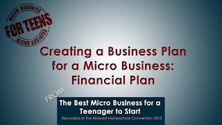 Creating a Business Plan for a Micro Business Financial Plan
