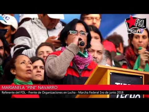"""Discurso de Marianela """"Pini"""" Navarro en la Marcha Federal"""