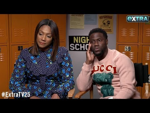 Watch! Tiffany Haddish & Kevin Hart Go Off the Rails in This 'Extra' Interview