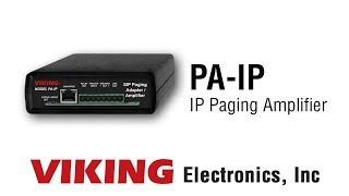 Viking PA-IP IP Paging Amplifier