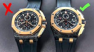 How to Spot Fake Watches - Audemars Piguet Royal Oak Offshore