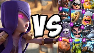 Witch Rework GAMEPLAY vs All Cards   Clash Royale