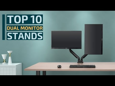 Top 10: Best Dual Monitor Stands for 2020 / Dual Monitor Mount Desk Arms for Dual Screens